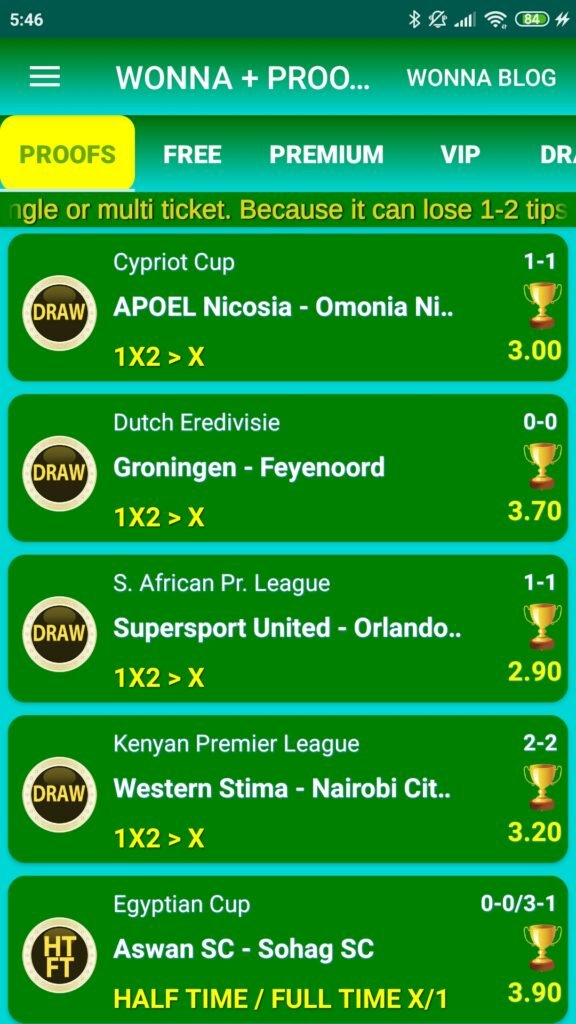 betting tips wonna 4